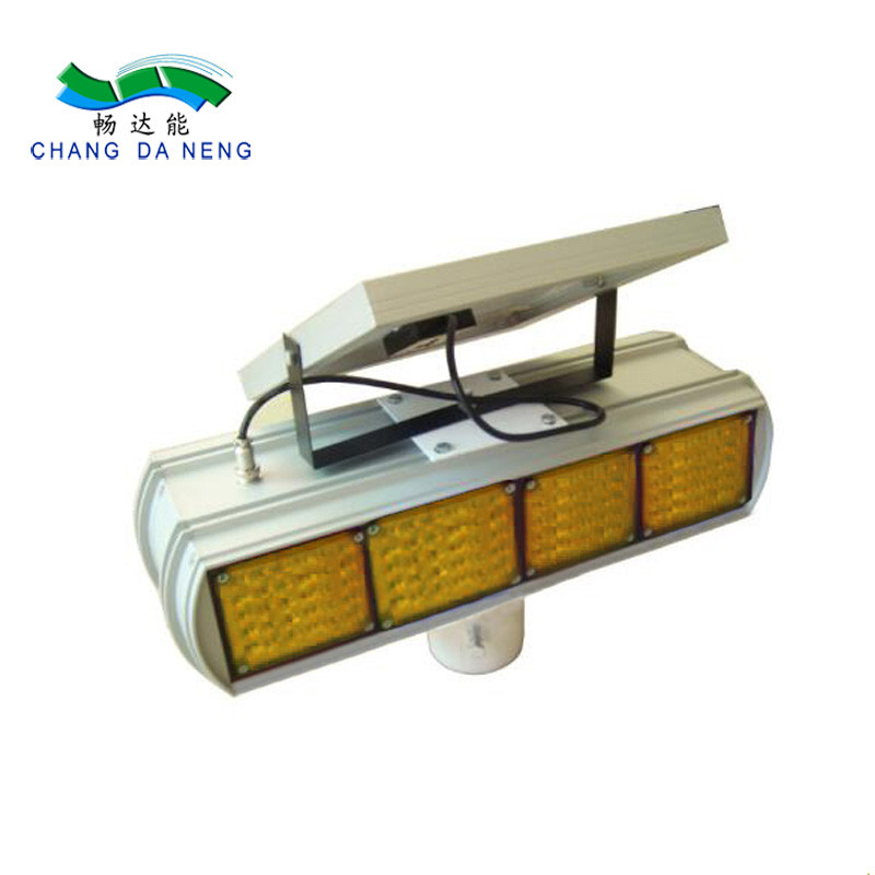 Led flashing solar strobe light  warning amber solar traffic safety equipment