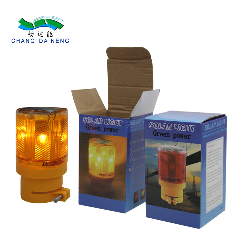Yellow LED Solar Strobe Light Flashing Amber strobe lights  Barricade Lights