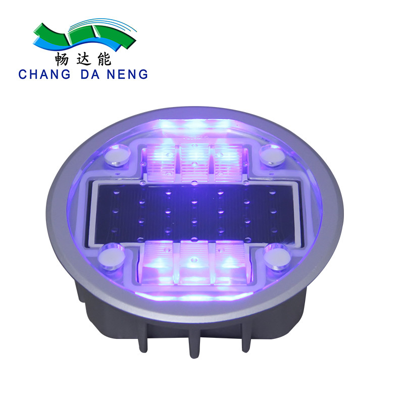 Led Warning Lane Marker Solar Road Stud Lights Waterproof IP68 Aluminum Alloy